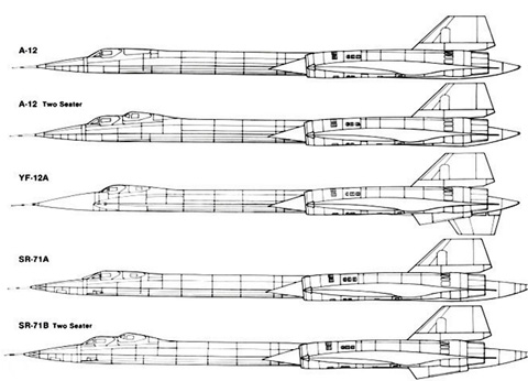 aircraft factsheets lockheed a 12 sr 71a 12 yf 12 sr 71 variant comparison